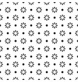 flower geometric seamless white and black pattern vector image vector image