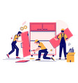 furniture assembly concept for web banner vector image