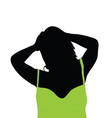 girl with green shirt vector image vector image