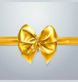 Gold bow and ribbon silk satin or foil packing