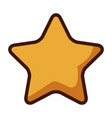 gold star icon cartoon game style vector image