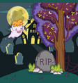 halloween night cartoons vector image vector image