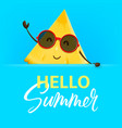 hello summer with pineapple character vector image vector image