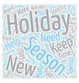 Holiday Survival Tips For Retirees text background vector image vector image