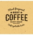 Isolated coffee logo Retro style logotype Modern vector image vector image