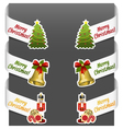 left and right side signs - merry christmas vector image vector image