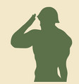man in military uniform vector image