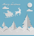merry christmas and happy new year of paper art vector image