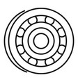 metal bearing icon outline style vector image vector image