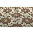mosaic floor vector image
