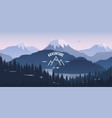 mountain landscape with reflection in the lake vector image vector image