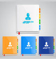 notebook set color vector image vector image