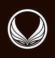 owl head logo template with geometric kamon symbol vector image vector image