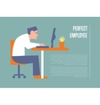 Perfect employee banner with businessman vector image vector image