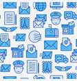 post office seamless pattern with thin line icons vector image vector image