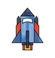 rocket flying idolated icon vector image