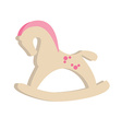 Rocking horse for girl vector image vector image