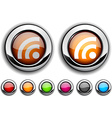 Rss button vector image vector image