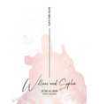 save date card marble tender soft rose grunge vector image vector image