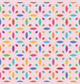 seamless flower pattern leaf and drop vector image vector image