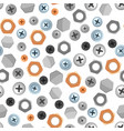 seamless pattern with bolts nuts nails vector image