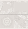 set of four seamless floral background patterns of vector image vector image