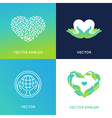 set of logo design templates and badges vector image vector image