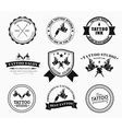 set tattoo logos different styles vector image