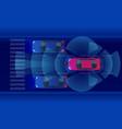 smart car hud autonomous self-driving mode vector image