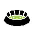 stadium pixel art football arena 8 bit sports vector image vector image