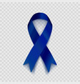 stock dark blue ribbon vector image