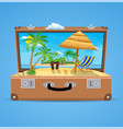 suitcase and accessories travel vector image