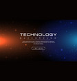 technology banner blue and orange background vector image