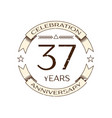 thirty seven years anniversary celebration logo vector image vector image