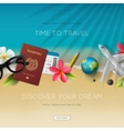 Tourism website template time to travel vector image vector image