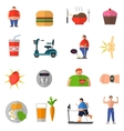 Transformation From Obesity To Healthy Lifestyle vector image vector image