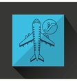 travel flying concept departure design graphic vector image