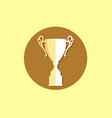 trophy icon trendy and modern vector image vector image