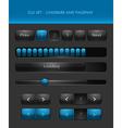 user interface elements - loader bars vector image