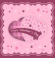 valentine background with hearts and flowers vector image vector image
