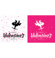 valentines day card set cupid heart background vector image vector image