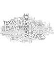 why play texas hold em text word cloud concept vector image vector image