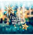 winter design with holiday lights and handwritten vector image vector image