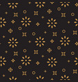 xmas background pattern gold snowflake icons on vector image