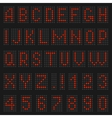 Alphabet and numbers of light vector image