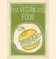vegan food promotional banner design vector image