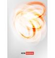 circle orange logo card vector image