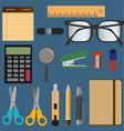 stationery elements set vector image
