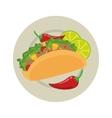 taco mexican food menu icon vector image