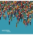 3d isometric of society members with a crowd of vector image